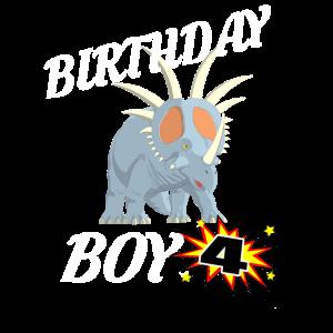 4 Jahre alte Geburtstag Design Dinosuar Shirt