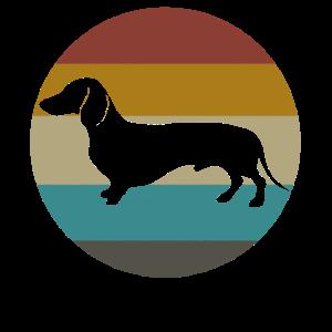 Dackel-Dachshund-Retro Weinlese-Hund für Tierliebhaber