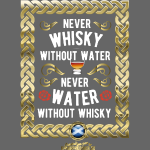 "Whisky-Shirt ""Whisky and water"""