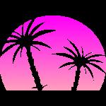 Pinker Sonnenuntergang Palmen