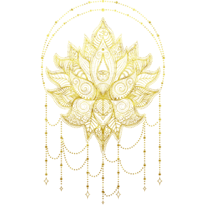 Blume des Lebens Mandala Om Symbol Gold Ornamenten