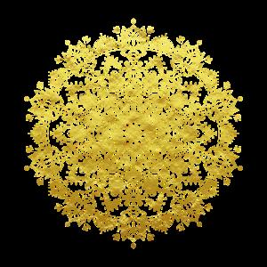 Gold indisches Buddhismus Mandala mit Ornamenten