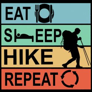 Eat Sleep Hike Repeat Wandern Geschenk Männer