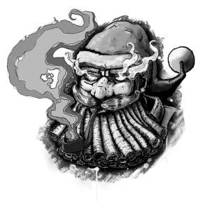 Santa SMOKED B / W