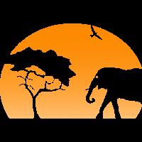 Natur Afrika Savanne Safari Elefant
