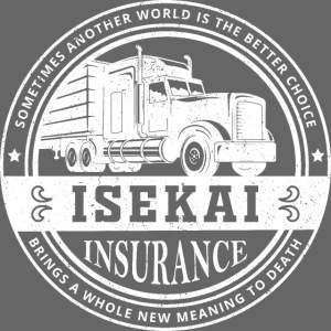Funny Anime Shirt Isekai insurance Co. - White