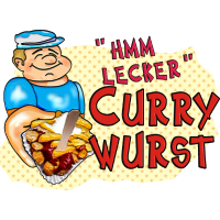1,00 € - hmm-lecker Currywurst