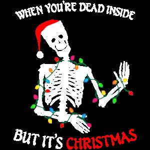 Weihnachten Skelett Lichterkette Ugly Christmas