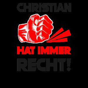 Spruch T-shirt Geschenk Faust, Christian
