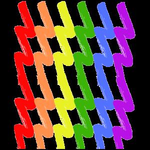 REGENBOGEN Rainbow Gay Pride LGBTQ Strich