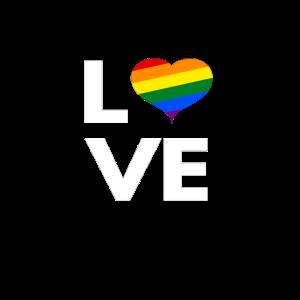 LOVE REGENBOGEN Rainbow Gay Pride LGBTQ