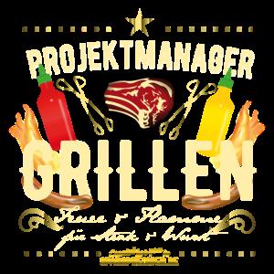 Grill-T-Shirt Projektmanager Grillen