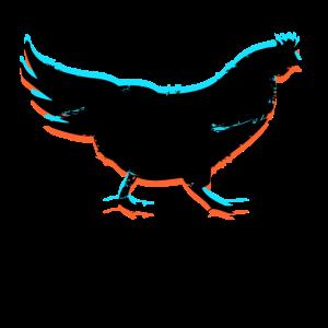 Huhn Hühnchen 3D Effekt