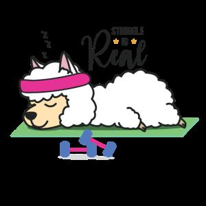 Struggle is Real - Schlafendes Lama, Süßes Lama