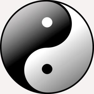Yin Yang Symbol balance Print Sign