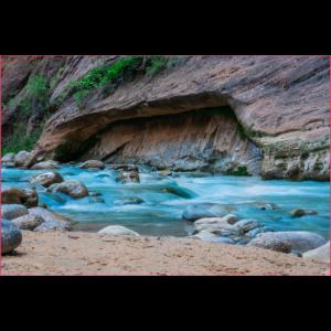 Fluss im Zion Canyon