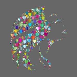 MonkeyShy femme avec cœurs multicolore
