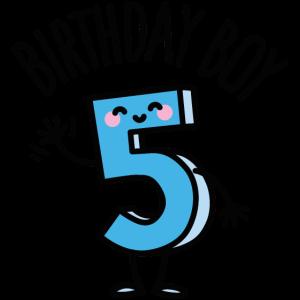 Birthday boy Geburtstag Junge 5 Jahre alt
