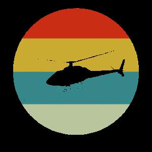 Retro Vintage Apachi 70er Jahre Stil Hubschrauber