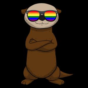LGBT Sunglasses Otter Tier LGBTQ Sonnebrille