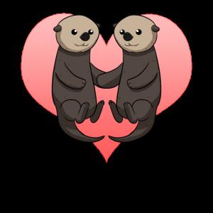Partner Otter Liebe