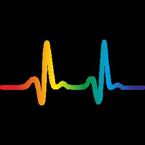 Lgbt Regenbogen Herzschlag, Pride EKG Puls