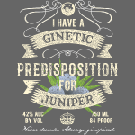 Gin T-Shirt Ginetic Predisposition