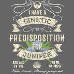 Gin T-Shirt Ginetic Predisposition