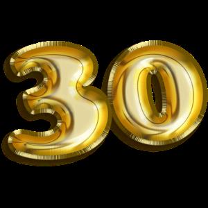 30 Geburtstag Ballon-Folien-Schrift