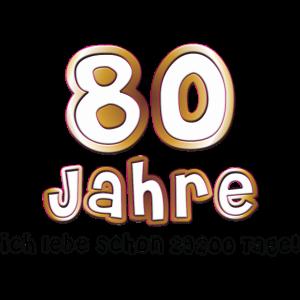 1,00 € - Neu! 80 Jahre Geburtstag