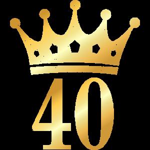 40. Geburtstag Krone (Vintage Goldgelb)