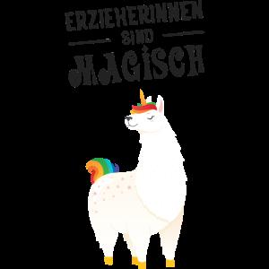 Erzieherinnen Sind Magisch - Lama Einhorn