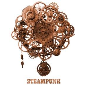 Steampunk Uhr Zahnrad Retro Futurismus