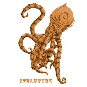 Streampunk Oktopus Tintenfisch retro Futurismus