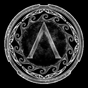 Sparta Lambda Symbol Keltisch Eis Winter