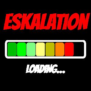Eskalation loading Ladebalken eskalieren Party