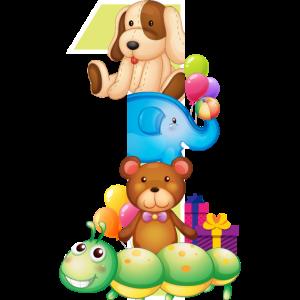 Kinder 1. Geburtstag Tiere ein Jahr Geschenk