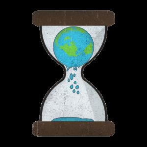Erde Sanduhruhr Umwelt Klima Global Warming