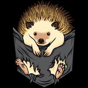 Igel-Tag-Tasche Niedliche Tier-Liebes-Igel