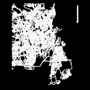 Minimaler Kopenhagen Stadtplan und Straßen