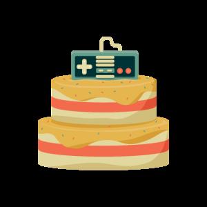 Gamer Nerd Konsolen Geburtstagskuchen Controller