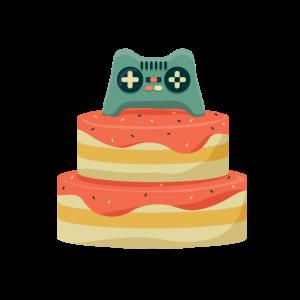 Controller Geburtstagskuchen für Gamer