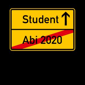 Abi 2020 - Student Ortsschild Abitur 2020