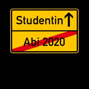 Abi 2020 - Studentin Ortsschild Abitur 2020