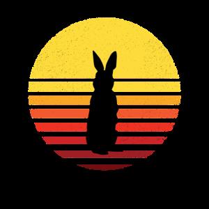 Sunset Sun Kaninchen Vintage Sonnenaufgang Hasen