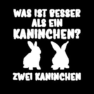 Besser zwei Kaninchen Hasen Hase Tshirt Geschenk