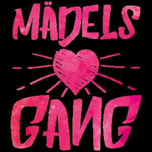 maedels gang herz pink
