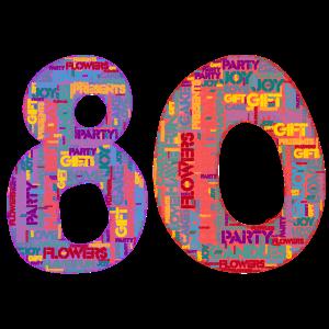 Happy Birthday - 80 Jahre