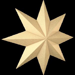3d Weihnachtsstern - Goldfarbe