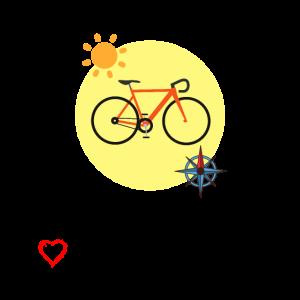 Ausflug mit Fahrrad - Sonnenschein - Kompass - Rad